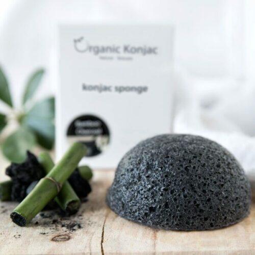 Organic Konjac Svamp Bamboo Charcoal – Akne og uren hud