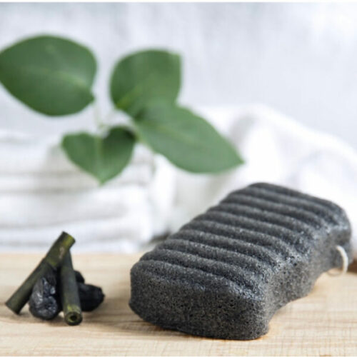Organic Konjac Svamp Body – Bamboo Charcoal til uren hud