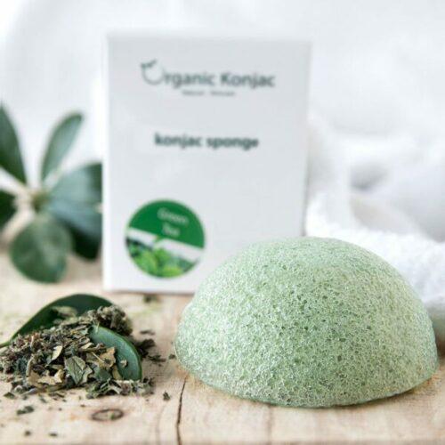 Organic Konjac Svamp Green Tea – Alle hudtyper samt antiage