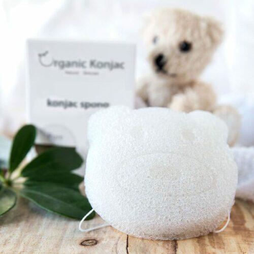 Organic Konjac Svamp Pure Bear – Til babyer og børn